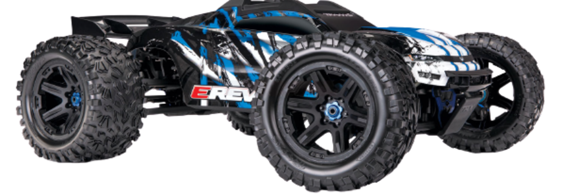 Traxxas E-Revo 2 TQi VXL-6S (no battery/charger), Blue TRX86086-4B