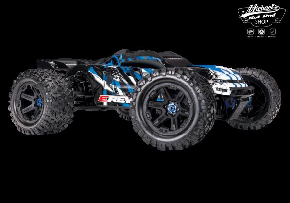 Traxxas E-Revo 2 TQi VXL-6S (no battery/charger), Blue TRX86086-4B-1