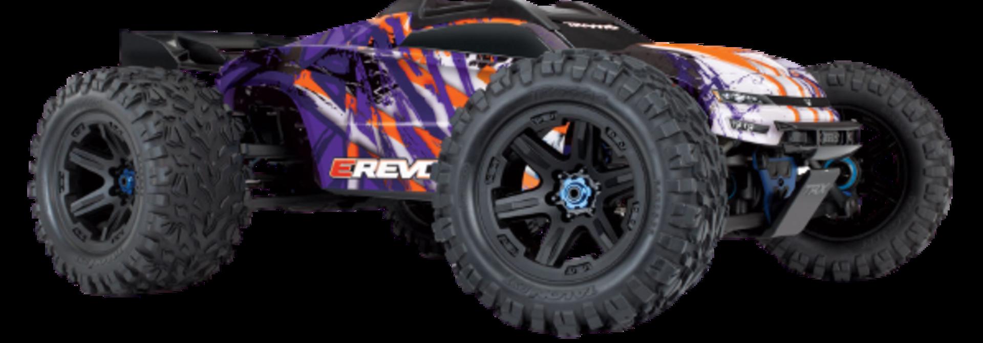 Traxxas E-Revo 2 TQi VXL-6S (no battery/charger), Purple TRX86086-4P