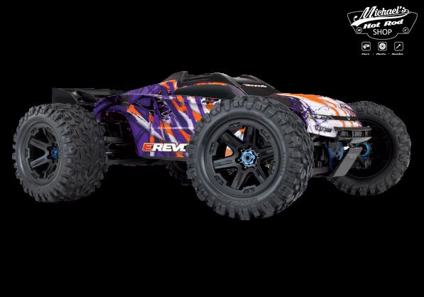 Traxxas E-Revo 2 TQi VXL-6S (no battery/charger), Purple TRX86086-4P-1