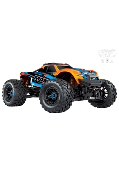 Traxxas Maxx 1/10 Scale 4WD Brushless Electric Monster Truck, VXL-4S, TQi - ORANGE TRX89076-4-ORNG