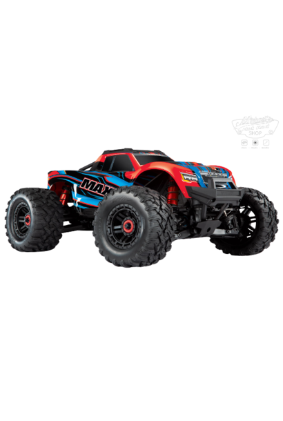 Traxxas Maxx 1/10 Scale 4WD Brushless Electric Monster Truck, VXL-4S, TQi - REDX TRX89076-4REDX