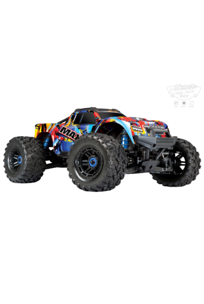 Traxxas Maxx 1/10 Scale 4WD Brushless Electric Monster Truck VXL-4S, TQi - Rock & Roll TRX89076-4RNR