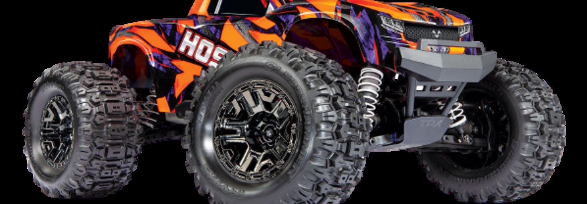 Traxxas Hoss 1/10 Scale 4WD Brushless Electric Monster Truck, VXL-3S, TQi - Orange TRX90076-4O