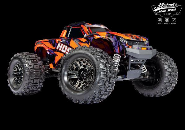 Traxxas Hoss 1/10 Scale 4WD Brushless Electric Monster Truck, VXL-3S, TQi - Orange TRX90076-4O-1