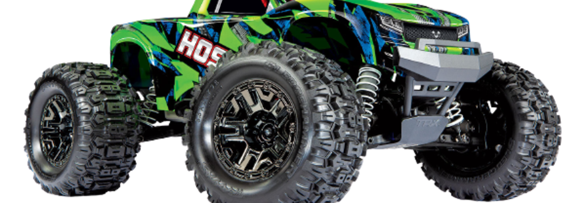Traxxas Hoss 1/10 Scale 4WD Brushless Electric Monster Truck, VXL-3S, TQi - Green TRX90076-4G