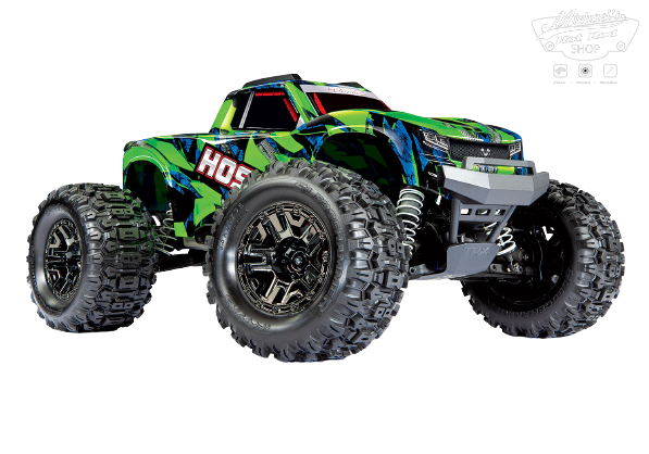 Traxxas Hoss 1/10 Scale 4WD Brushless Electric Monster Truck, VXL-3S, TQi - Green TRX90076-4G-1