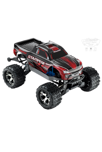Traxxas Stampede 4x4 VXL TQi TSM (no battery/charger), Red, TRX67086-4R