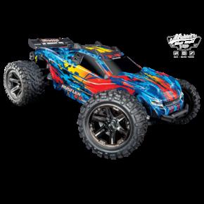 Traxxas Rustler 4X4 VXL TQi TSM (no battery/charger), Red, TRX67076-4R