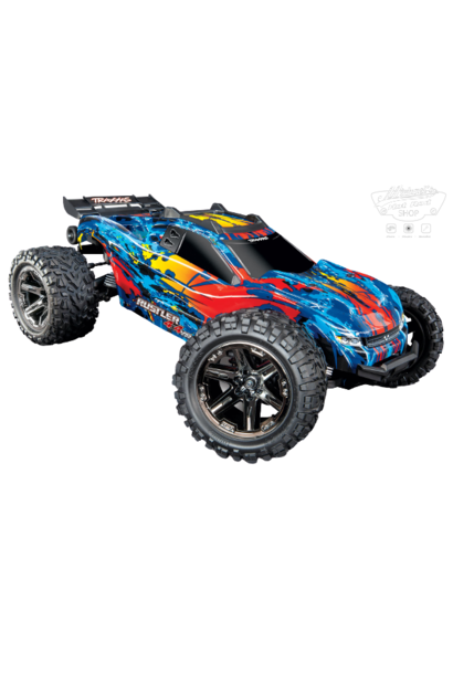 Traxxas Rustler 4X4 VXL TQi TSM (no battery/charger), Red, TRX67076-4R