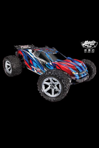 Traxxas Rustler 4X4 VXL TQi TSM (no battery/charger), Blue TRX67076-4B