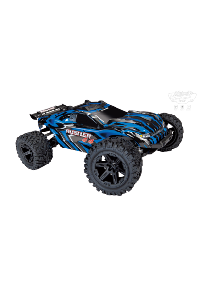 Traxxas Rustler 4x4 XL-5 TQ (incl battery/charger), Blue, TRX67064-1B