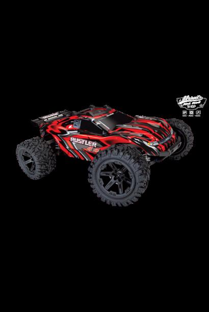 Traxxas Rustler 4x4 XL-5 TQ (incl battery/charger), Red, TRX67064-1R