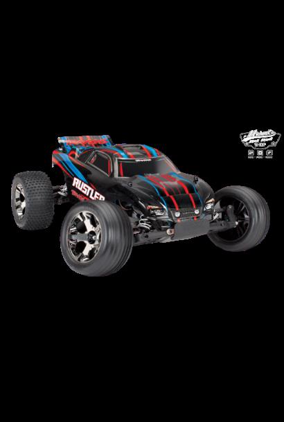 Traxxas Rustler VXL TQi TSM (no battery/charger), Red, TRX37076-4R