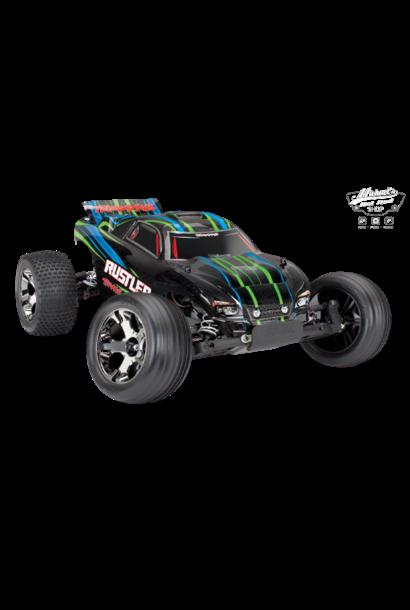 Traxxas Rustler VXL TQi TSM (no battery/charger), Green, TRX37076-4G