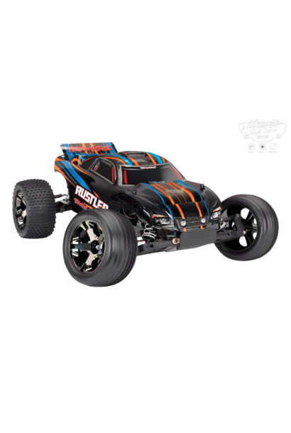Traxxas Rustler VXL TQi TSM (no battery/charger). Orange TRX37076-4O