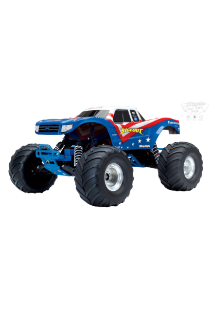 Traxxas BigFoot 1/10th Monstertruck XL-5 TQ (incl bat/chrgr), Red White Blue, TRX36084-1R (uitlopend)