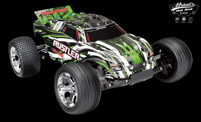 Traxxas Rustler XL-5 TQ (incl battery/charger), Green TRX37054-1G-2