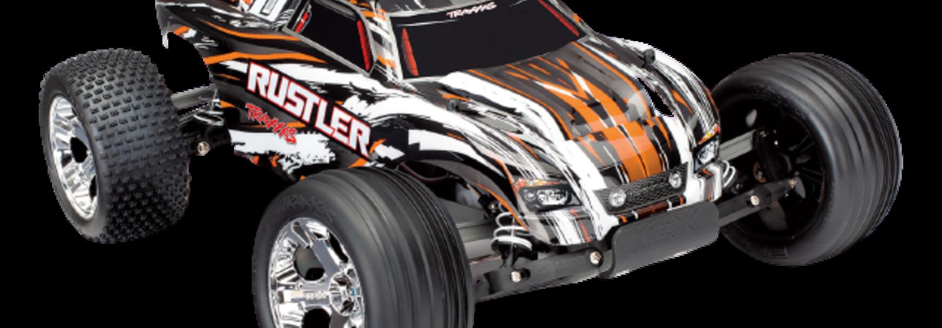 Traxxas Rustler XL-5 TQ (incl battery/charger), Orange TRX37054-1O