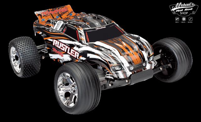 Traxxas Rustler XL-5 TQ (incl battery/charger), Orange TRX37054-1O-1