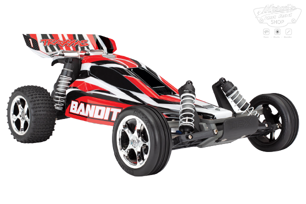 Traxxas Bandit XL-5 TQ (incl. battery/charger), Red, TRX24054-1R-1