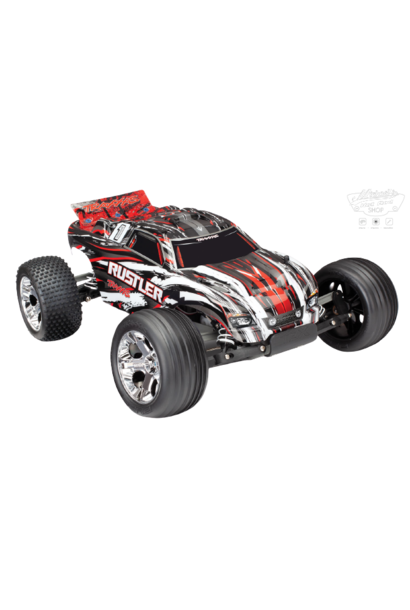 Traxxas Rustler XL-5 TQ (no battery/charger), Red, TRX37054-4R