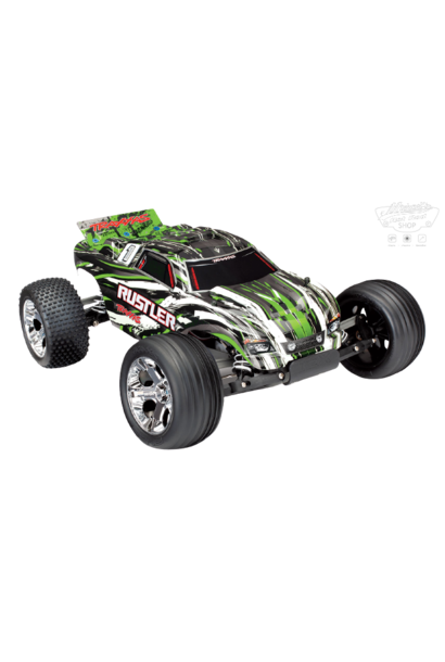 Traxxas Rustler XL-5 TQ (no battery/charger), Green TRX37054-4G