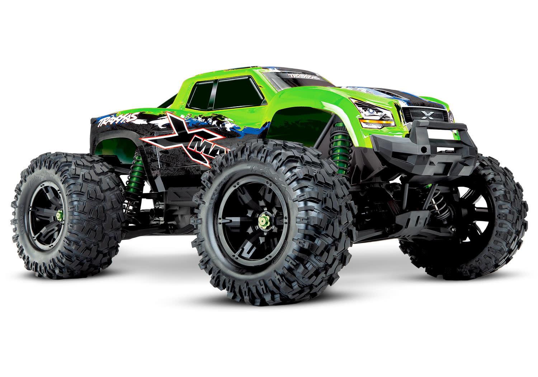 Traxxas X-Maxx 4WD VXL-8S Monstertruck TQi TSM (no battery/charger), Green V2 TRX77086-4GRNX-3