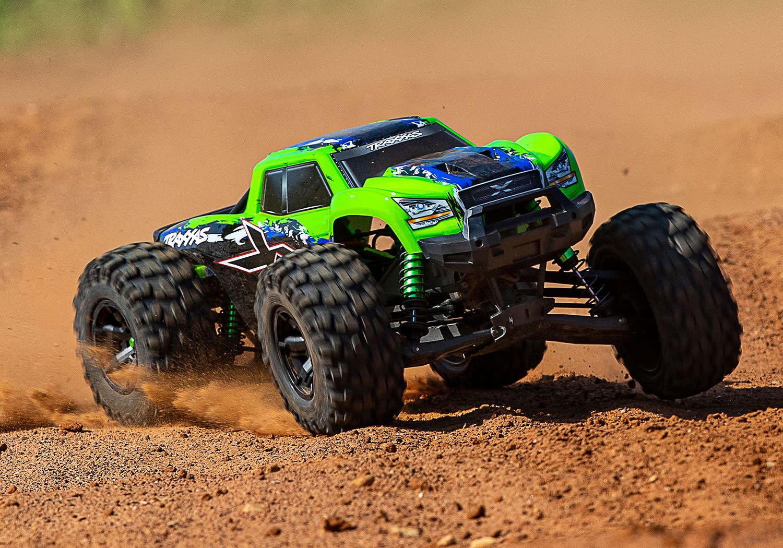 Traxxas X-Maxx 4WD VXL-8S Monstertruck TQi TSM (no battery/charger), Green V2 TRX77086-4GRNX-6