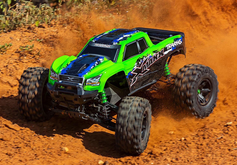 Traxxas X-Maxx 4WD VXL-8S Monstertruck TQi TSM (no battery/charger), Green V2 TRX77086-4GRNX-7