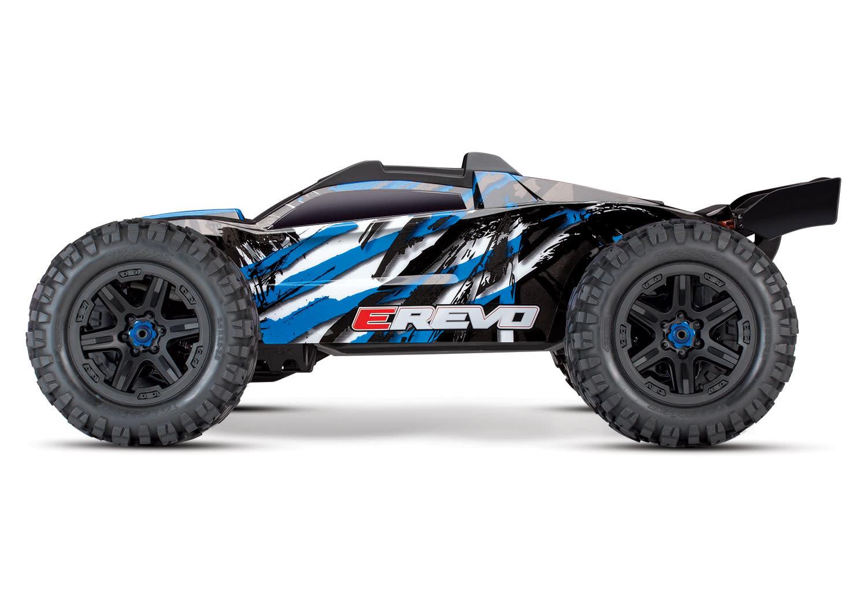 Traxxas E-Revo 2 TQi VXL-6S (no battery/charger), Blue TRX86086-4B-3