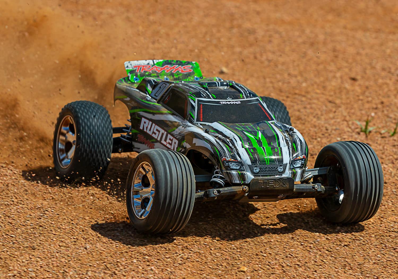 Traxxas Rustler XL-5 TQ (incl battery/charger), Green TRX37054-1G-4