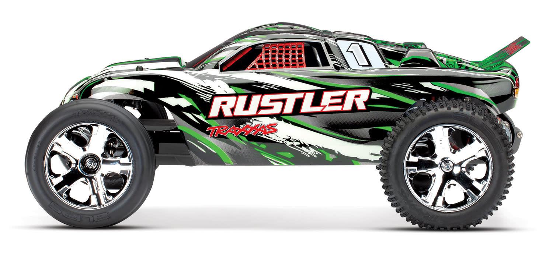 Traxxas Rustler XL-5 TQ (incl battery/charger), Green TRX37054-1G-6