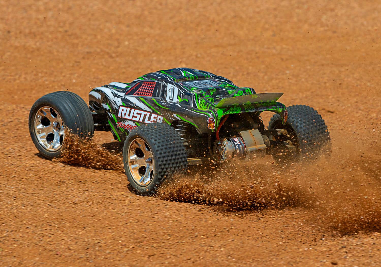 Traxxas Rustler XL-5 TQ (incl battery/charger), Green TRX37054-1G-7