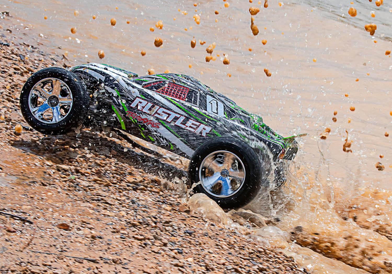 Traxxas Rustler XL-5 TQ (incl battery/charger), Green TRX37054-1G-9