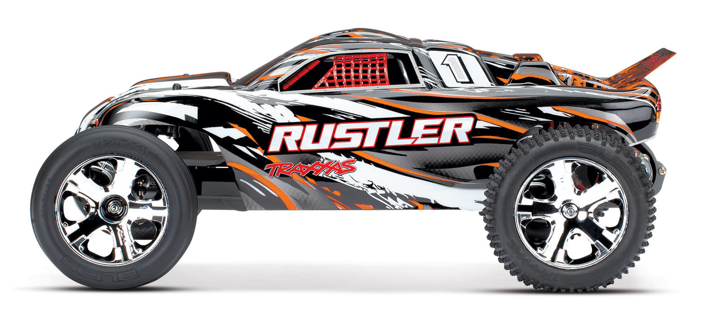 Traxxas Rustler XL-5 TQ (incl battery/charger), Orange TRX37054-1O-3