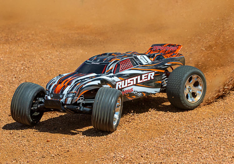 Traxxas Rustler XL-5 TQ (incl battery/charger), Orange TRX37054-1O-5