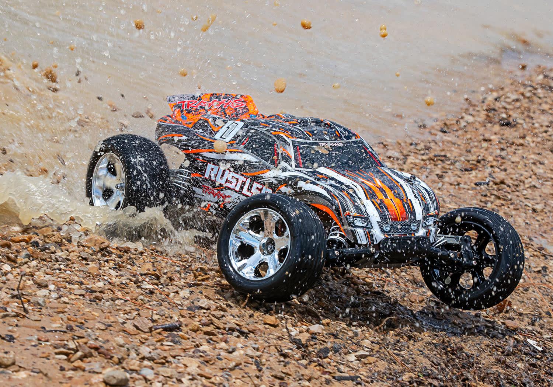 Traxxas Rustler XL-5 TQ (incl battery/charger), Orange TRX37054-1O-6