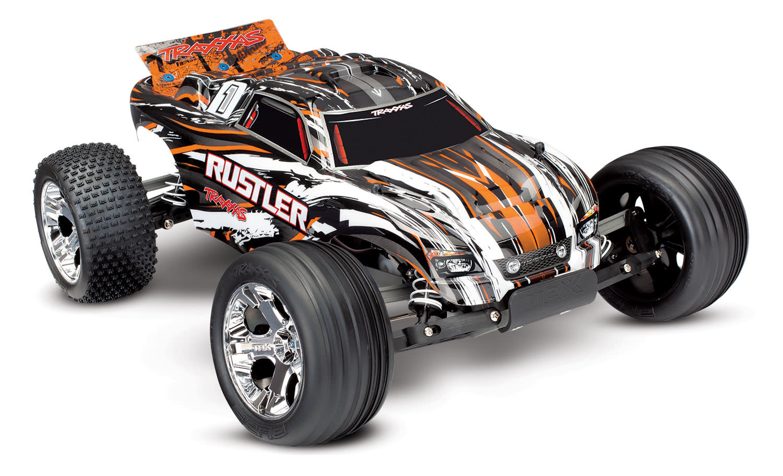 Traxxas Rustler XL-5 TQ (incl battery/charger), Orange TRX37054-1O-2