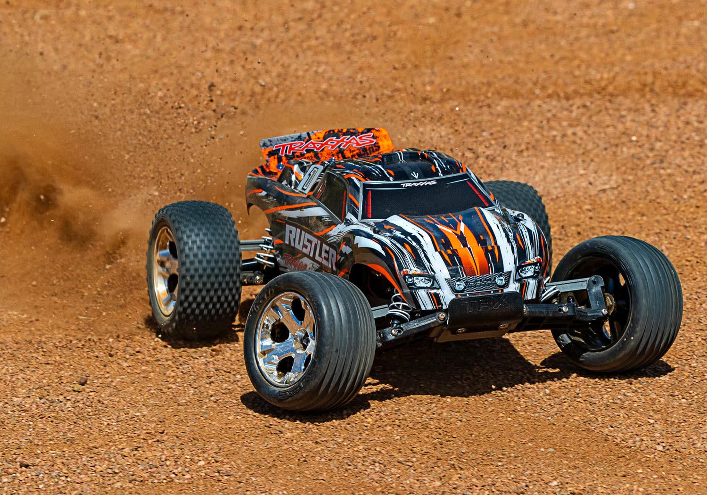 Traxxas Rustler XL-5 TQ (incl battery/charger), Orange TRX37054-1O-8