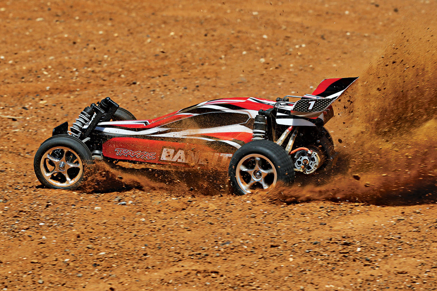 Traxxas Bandit XL-5 TQ (incl. battery/charger), Red, TRX24054-1R-3