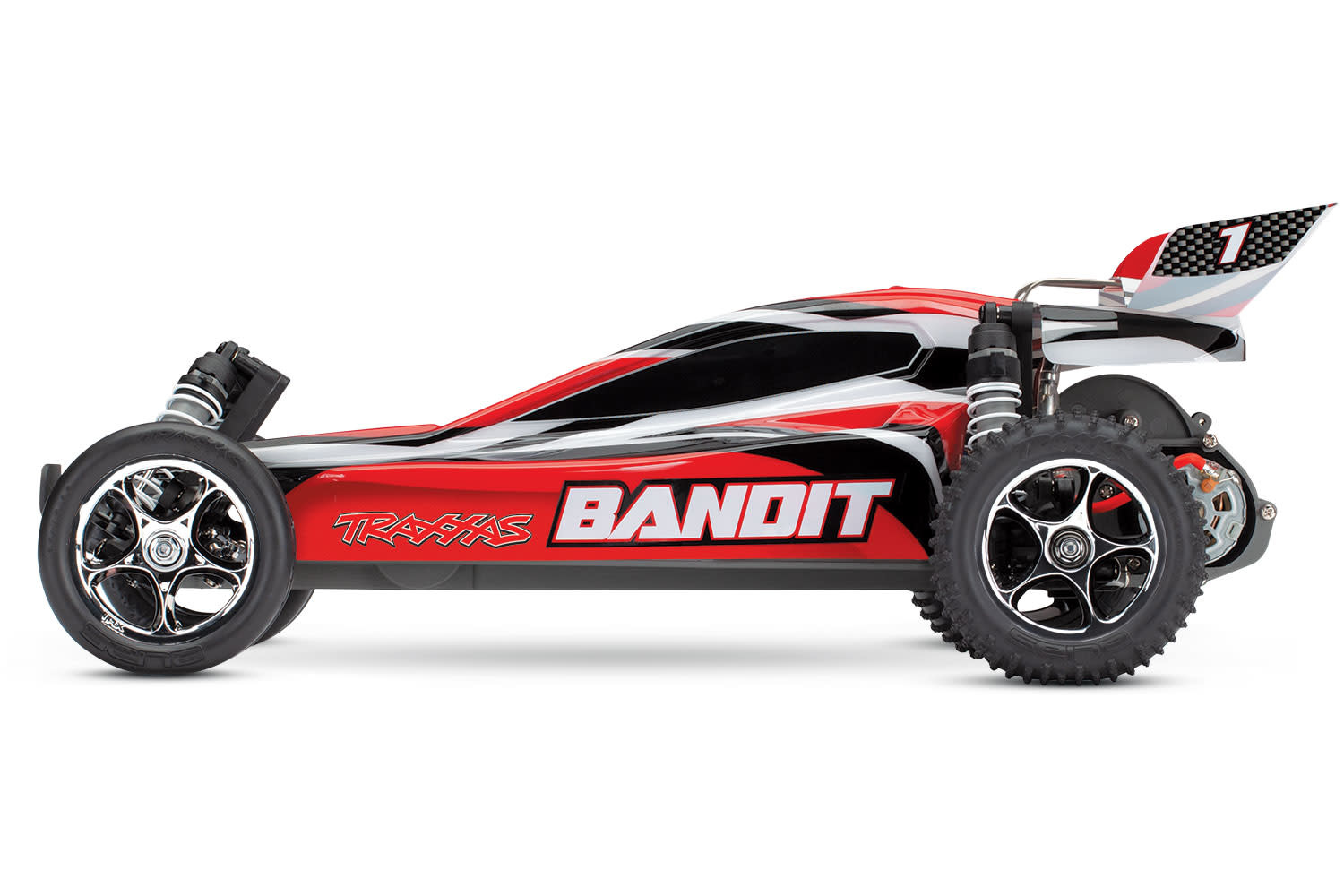 Traxxas Bandit XL-5 TQ (incl. battery/charger), Red, TRX24054-1R-4