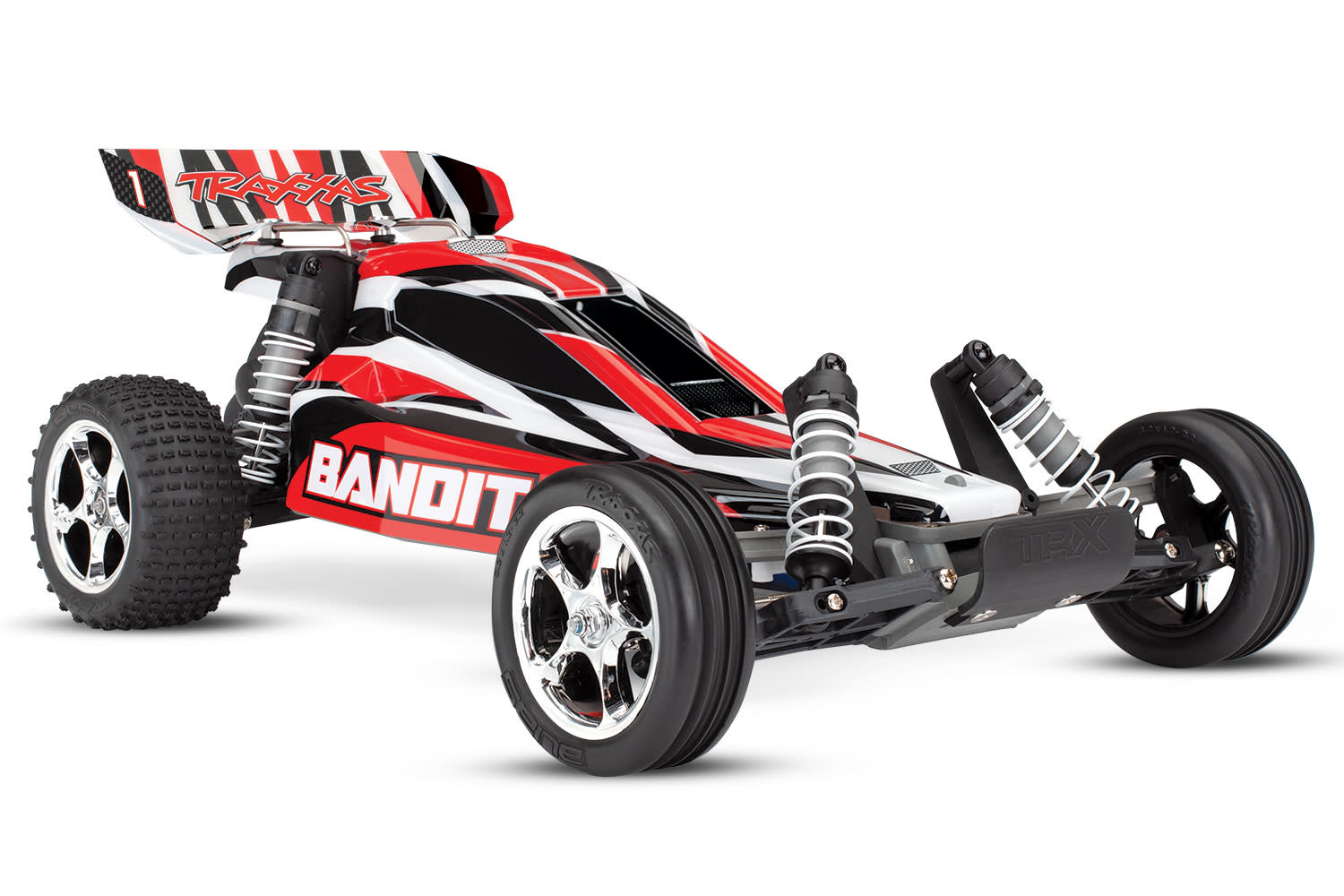 Traxxas Bandit XL-5 TQ (incl. battery/charger), Red, TRX24054-1R-6