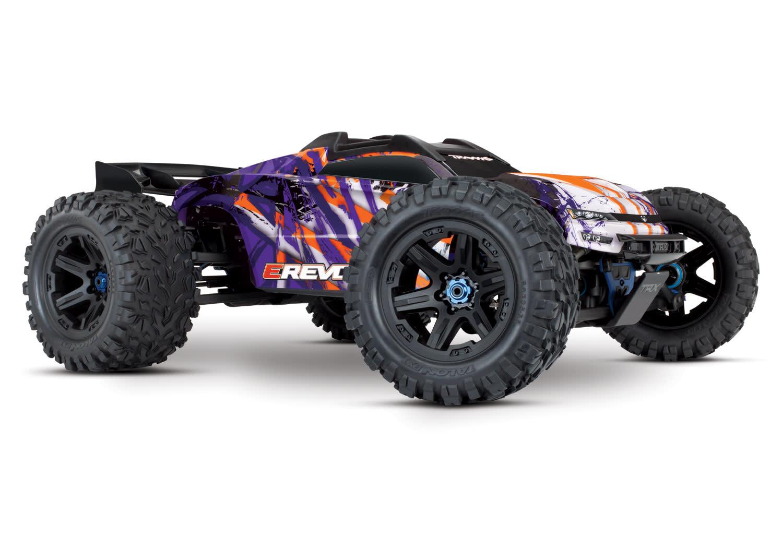 Traxxas E-Revo 2 TQi VXL-6S (no battery/charger), Purple TRX86086-4P-4