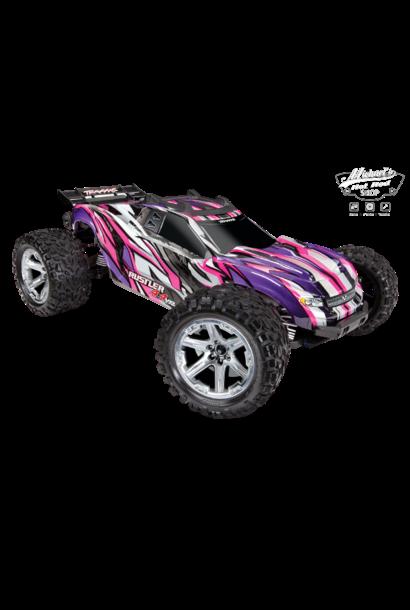 Traxxas Rustler 4X4 VXL TQi TSM (no battery/charger), Pink TRX67076-4P