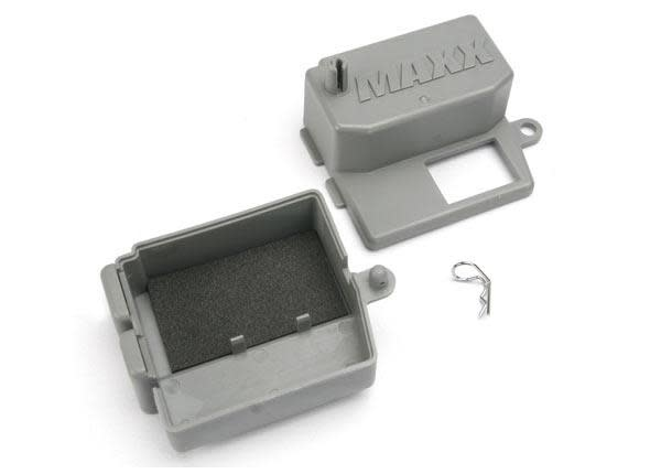 Box, receiver (upper and lower halves)/ clip (1)/ foam pad, TRX5159-2
