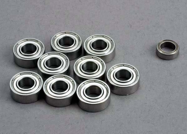 Ball bearing set: 5x11x4mm (9)/ 5x8x2.5mm (1), TRX1259-4