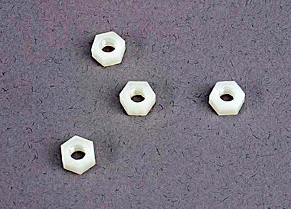 4mm nylon wheel nuts (4), TRX2447-2