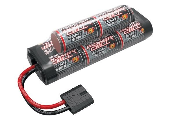 Battery, Series 5 Power Cell, 5000mAh (NiMH, 8-C hump, 9.6V), TRX2963X-2
