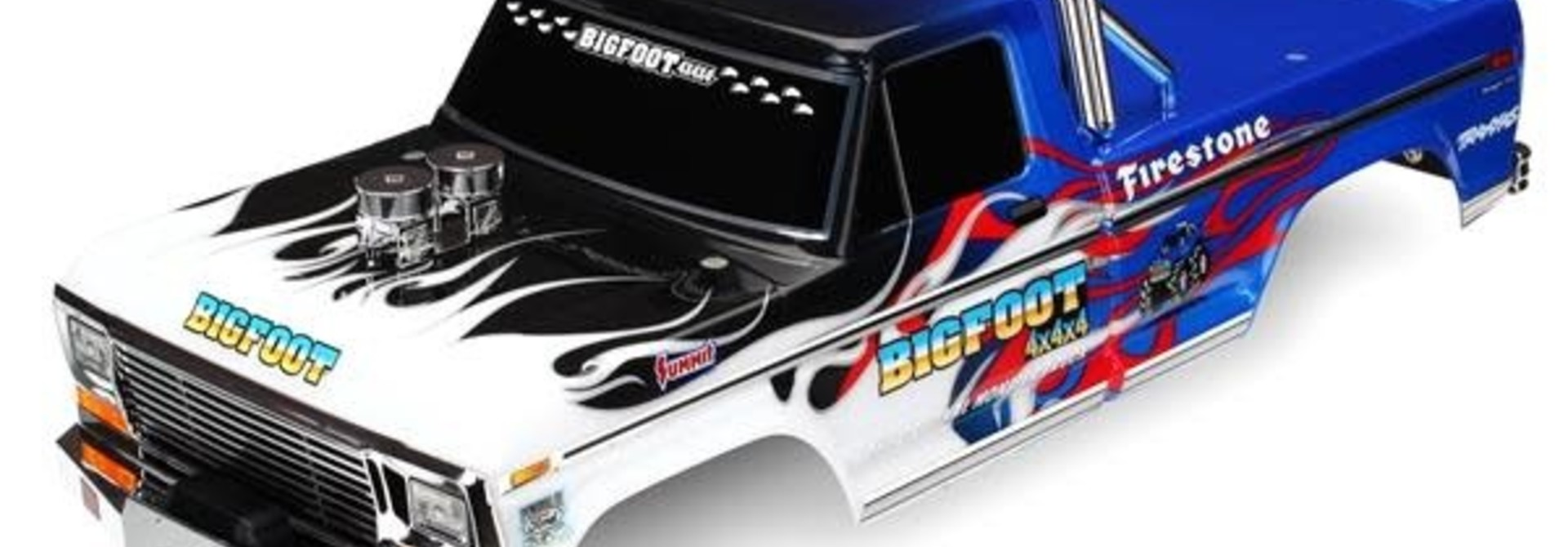 Body, Bigfoot® Flame, Officially Licensereplica (painted, decals applied), TRX3653